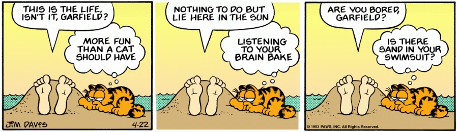 Оригинал комикса про Гарфилда от 22 апреля 1983 года