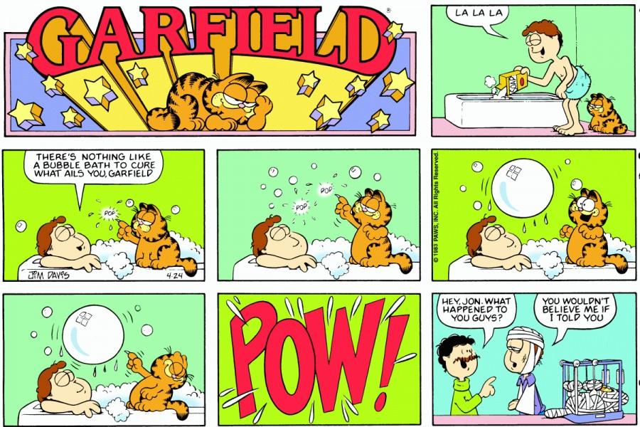 Оригинал комикса про Гарфилда от 24 апреля 1983 года