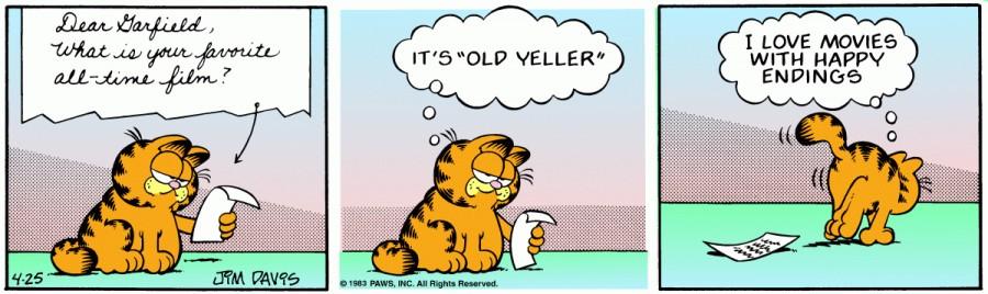 Оригинал комикса про Гарфилда от 25 апреля 1983 года