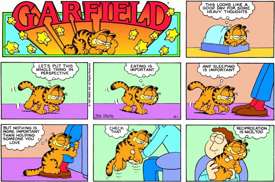 Оригинал комикса про Гарфилда от 01 мая 1983 года