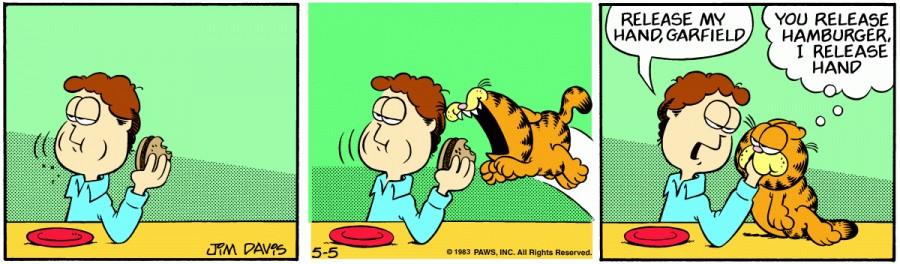 Оригинал комикса про Гарфилда от 05 мая 1983 года