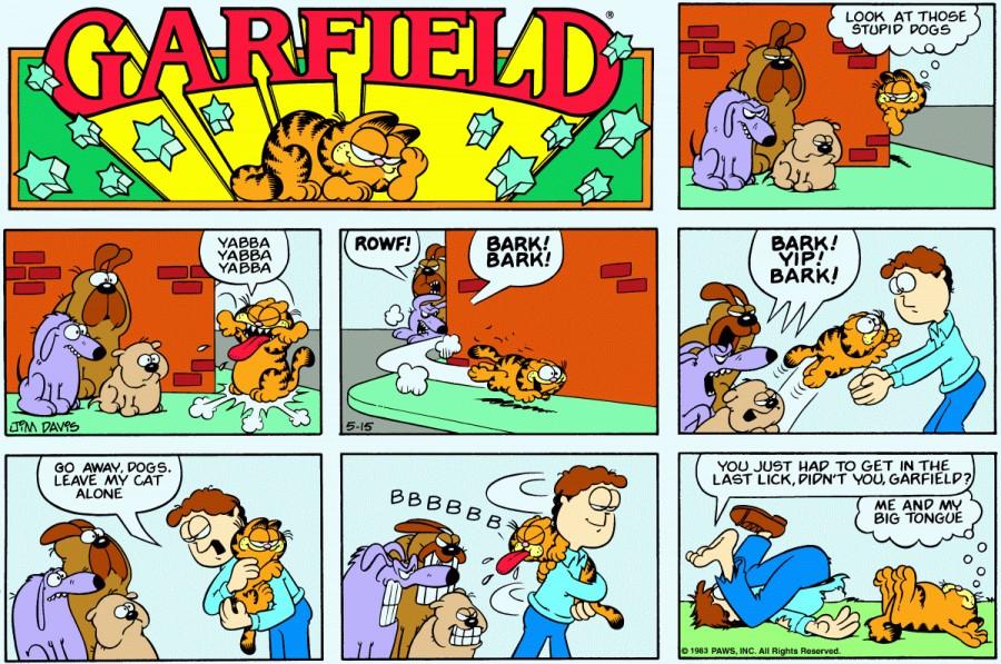 Оригинал комикса про Гарфилда от 15 мая 1983 года