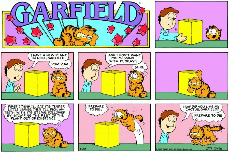 Оригинал комикса про Гарфилда от 29 мая 1983 года