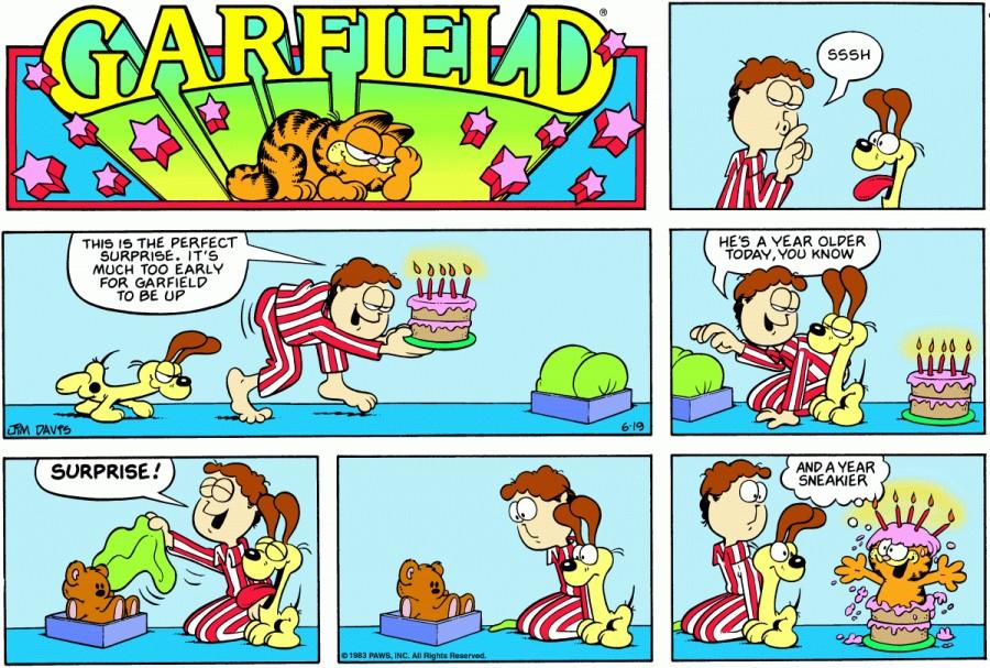Оригинал комикса про Гарфилда от 19 июня 1983 года