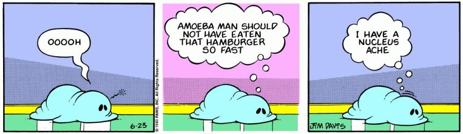 Оригинал комикса про Гарфилда от 23 июня 1983 года
