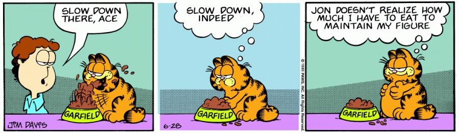 Оригинал комикса про Гарфилда от 28 июня 1983 года