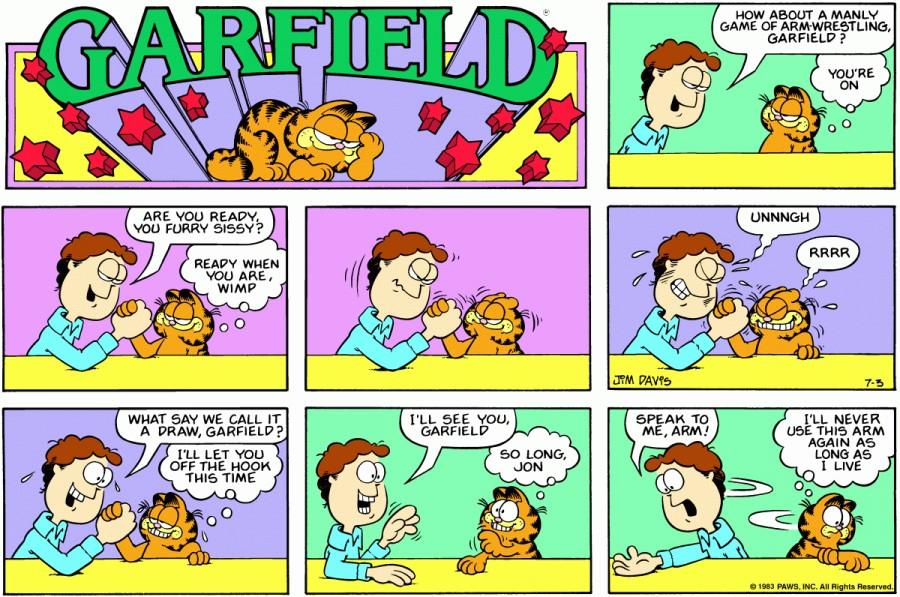 Оригинал комикса про Гарфилда от 03 июля 1983 года