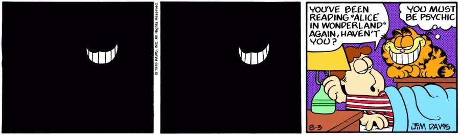Оригинал комикса про Гарфилда от 03 августа 1983 года