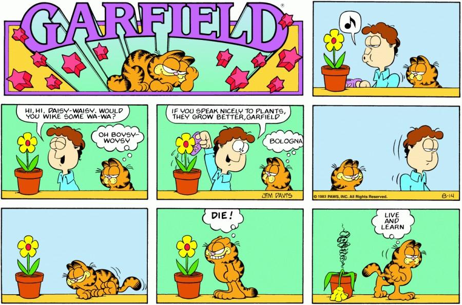 Оригинал комикса про Гарфилда от 14 августа 1983 года