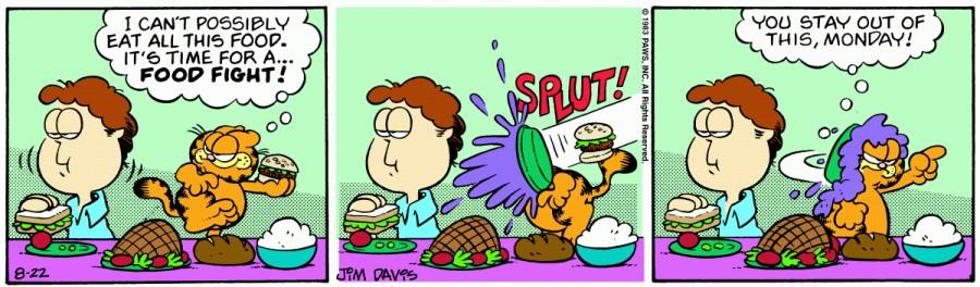 Оригинал комикса про Гарфилда от 22 августа 1983 года