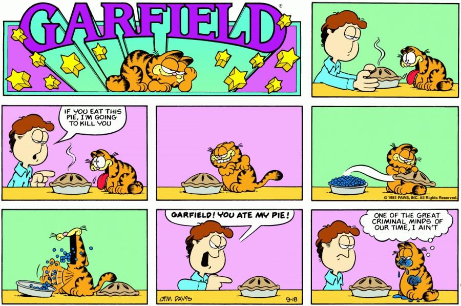 Оригинал комикса про Гарфилда от 18 сентября 1983 года