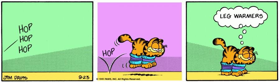 Оригинал комикса про Гарфилда от 23 сентября 1983 года