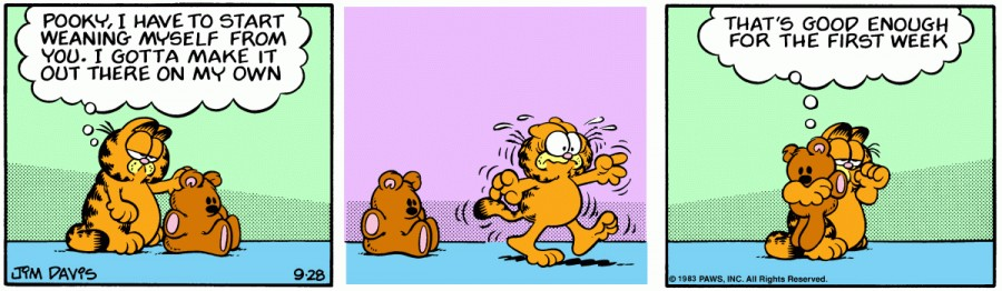 Оригинал комикса про Гарфилда от 28 сентября 1983 года