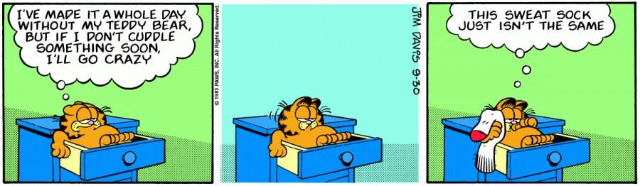 Оригинал комикса про Гарфилда от 30 сентября 1983 года