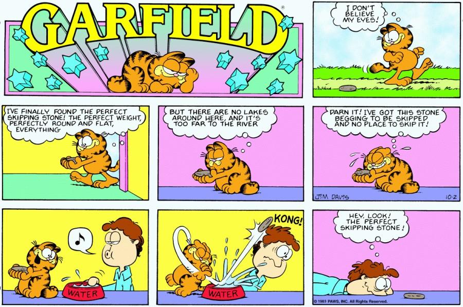 Оригинал комикса про Гарфилда от 02 октября 1983 года