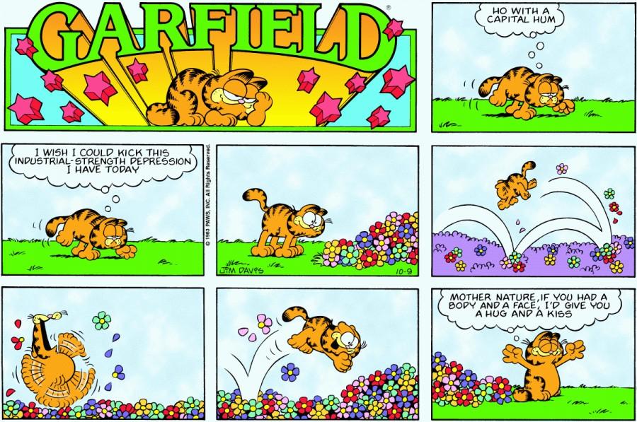 Оригинал комикса про Гарфилда от 09 октября 1983 года
