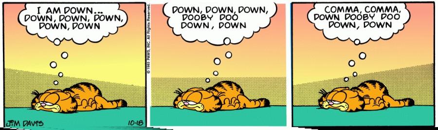 Оригинал комикса про Гарфилда от 18 октября 1983 года