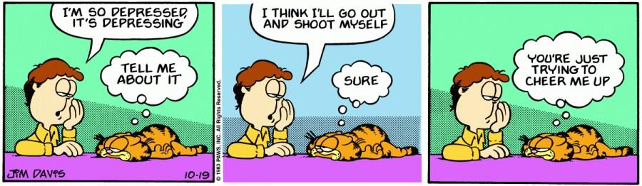 Оригинал комикса про Гарфилда от 19 октября 1983 года