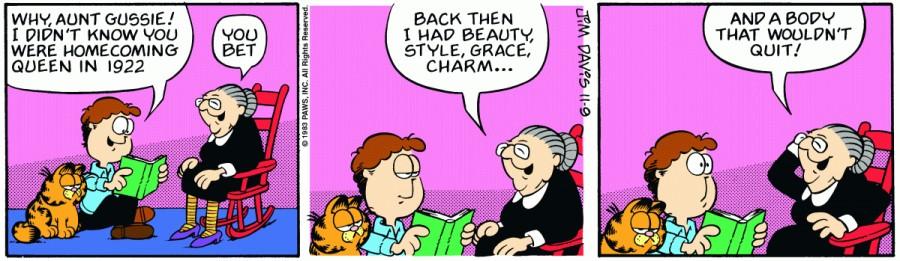 Оригинал комикса про Гарфилда от 09 ноября 1983 года