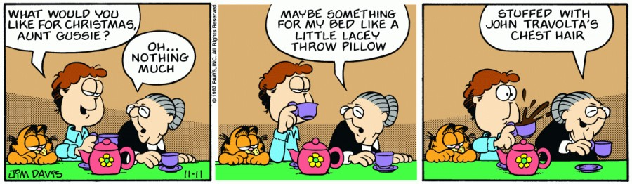 Оригинал комикса про Гарфилда от 11 ноября 1983 года