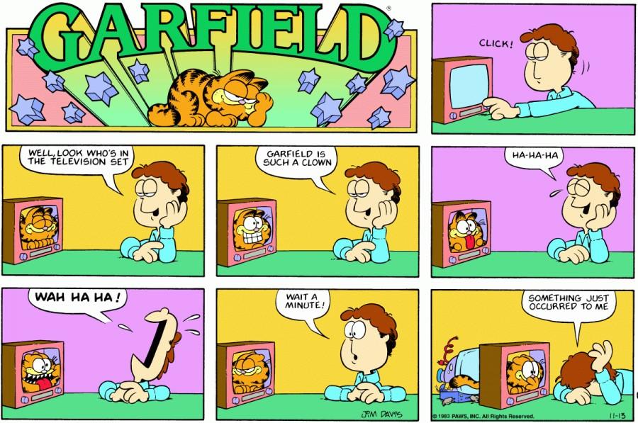Оригинал комикса про Гарфилда от 13 ноября 1983 года
