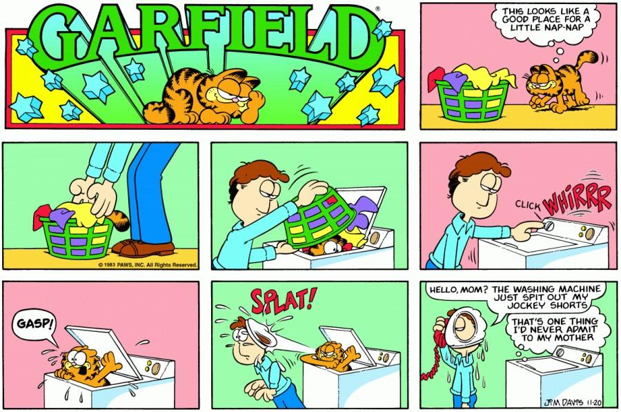 Оригинал комикса про Гарфилда от 20 ноября 1983 года
