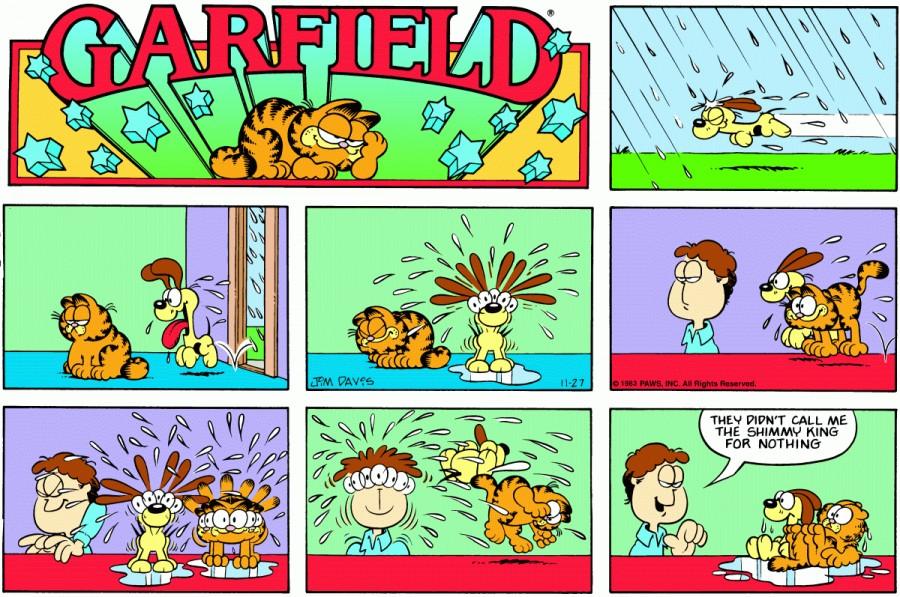 Оригинал комикса про Гарфилда от 27 ноября 1983 года