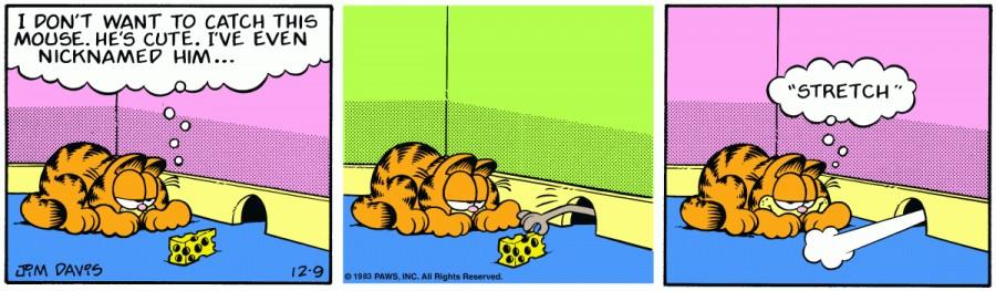 Оригинал комикса про Гарфилда от 09 декабря 1983 года