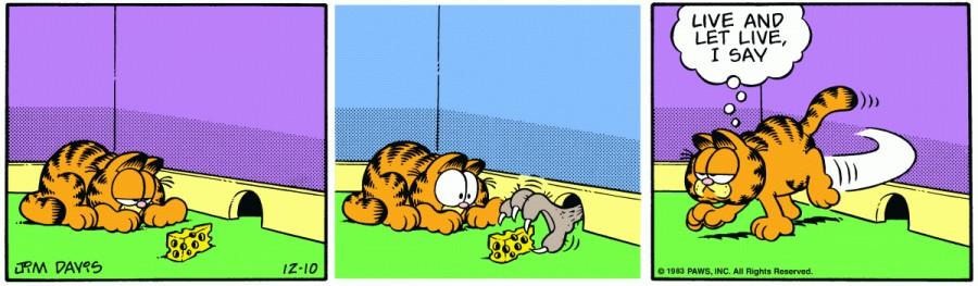 Оригинал комикса про Гарфилда от 10 декабря 1983 года