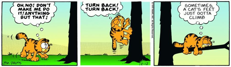 Оригинал комикса про Гарфилда от 12 декабря 1983 года