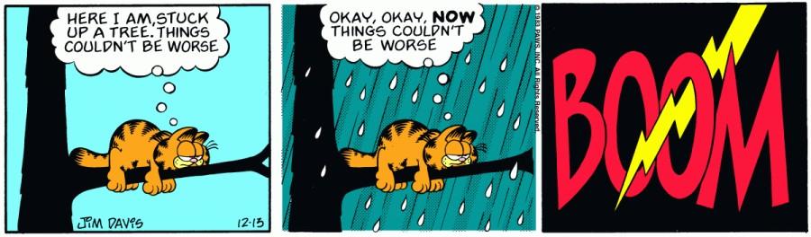 Оригинал комикса про Гарфилда от 13 декабря 1983 года