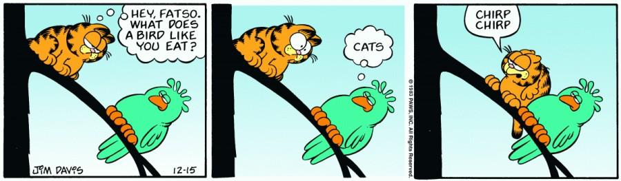 Оригинал комикса про Гарфилда от 15 декабря 1983 года
