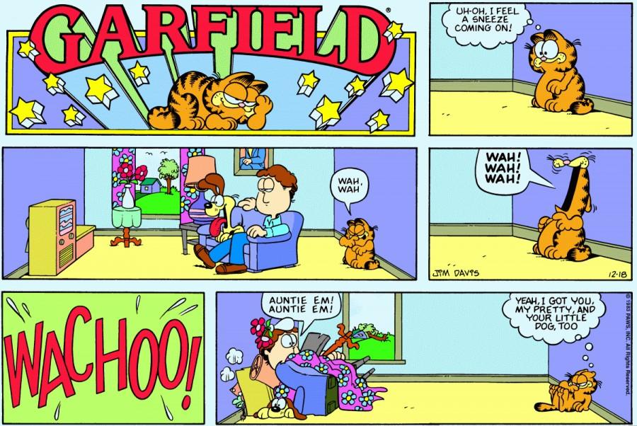 Оригинал комикса про Гарфилда от 18 декабря 1983 года