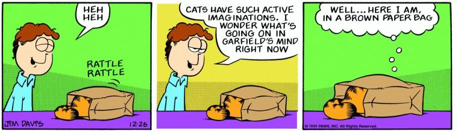 Оригинал комикса про Гарфилда от 26 декабря 1983 года