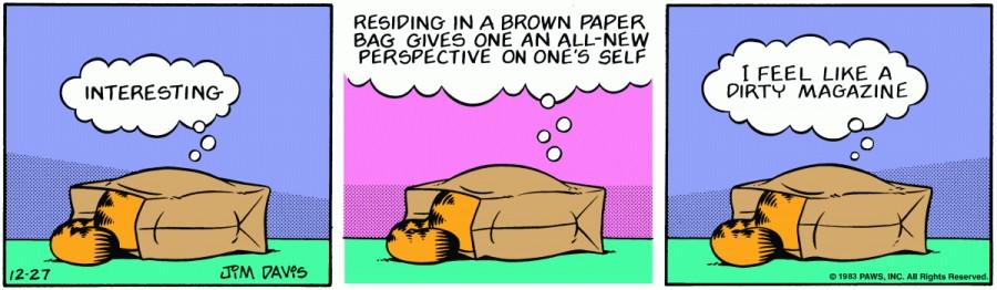 Оригинал комикса про Гарфилда от 27 декабря 1983 года