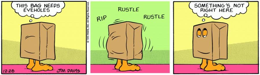Оригинал комикса про Гарфилда от 28 декабря 1983 года
