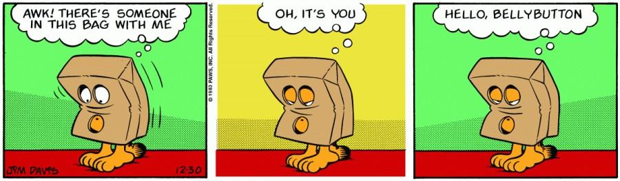 Оригинал комикса про Гарфилда от 30 декабря 1983 года