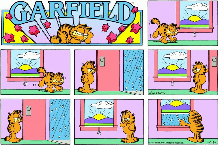 Оригинал комикса про Гарфилда от 08 января 1984 года