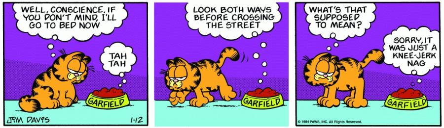 Оригинал комикса про Гарфилда от 12 января 1984 года