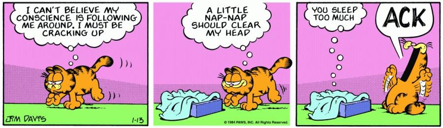 Оригинал комикса про Гарфилда от 13 января 1984 года