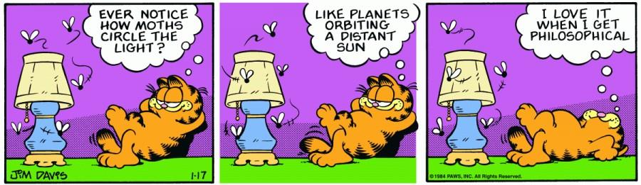Оригинал комикса про Гарфилда от 17 января 1984 года