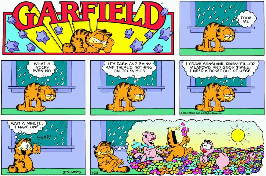 Оригинал комикса про Гарфилда от 29 января 1984 года