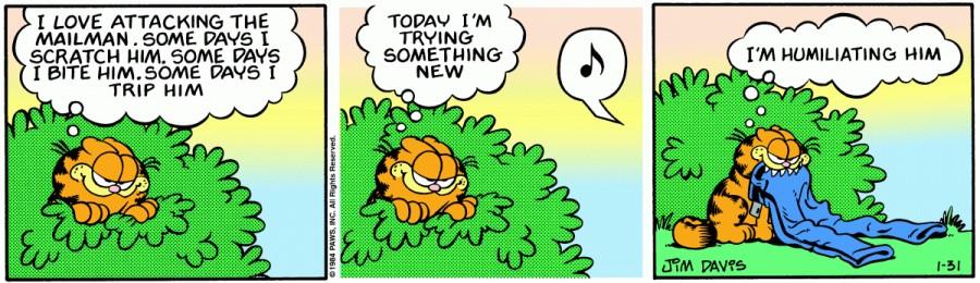 Оригинал комикса про Гарфилда от 31 января 1984 года