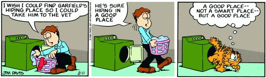 Оригинал комикса про Гарфилда от 11 февраля 1984 года