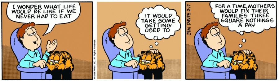 Оригинал комикса про Гарфилда от 17 февраля 1984 года