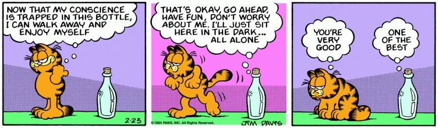 Оригинал комикса про Гарфилда от 23 февраля 1984 года