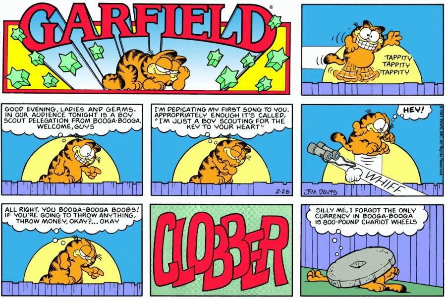 Оригинал комикса про Гарфилда от 26 февраля 1984 года