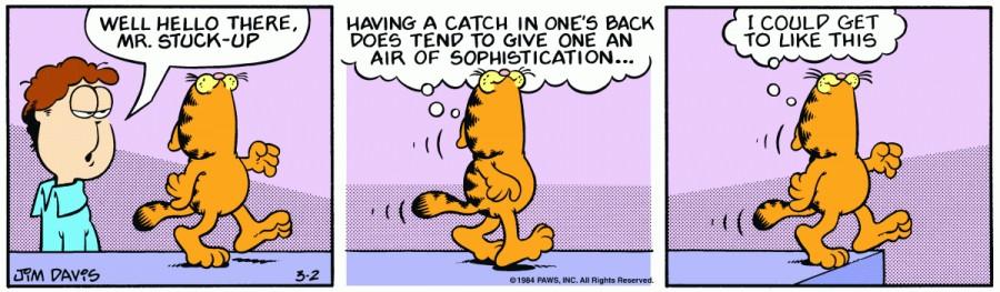Оригинал комикса про Гарфилда от 02 марта 1984 года