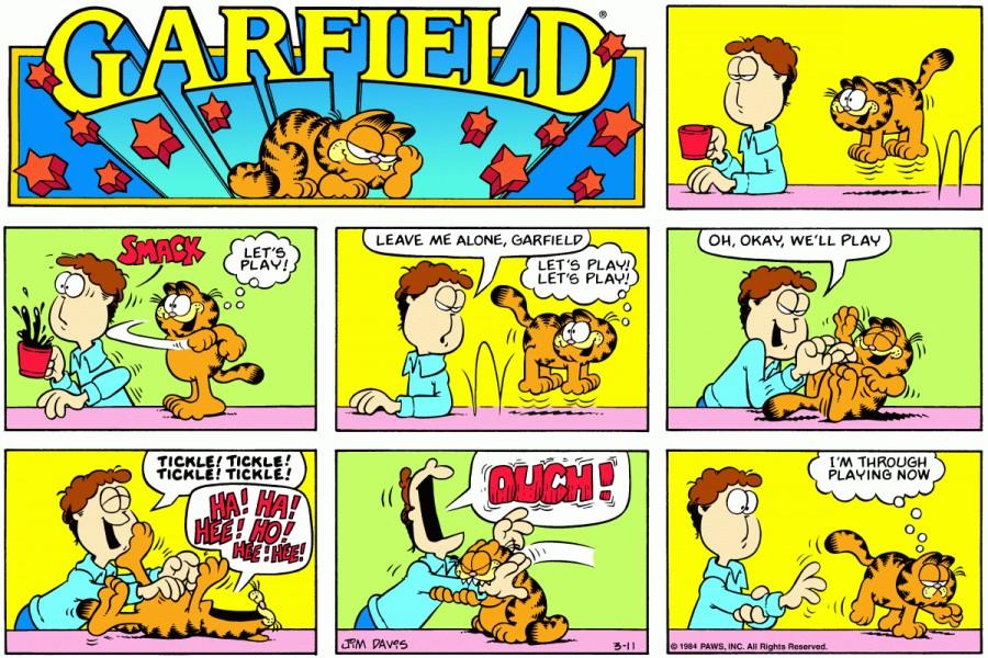Оригинал комикса про Гарфилда от 11 марта 1984 года
