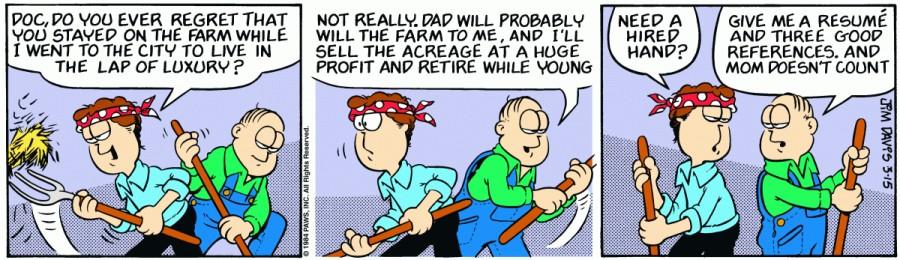 Оригинал комикса про Гарфилда от 15 марта 1984 года